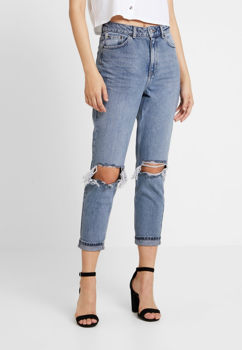 Topshop - WILL MOM - Jeans Relaxed Fit - grey cast