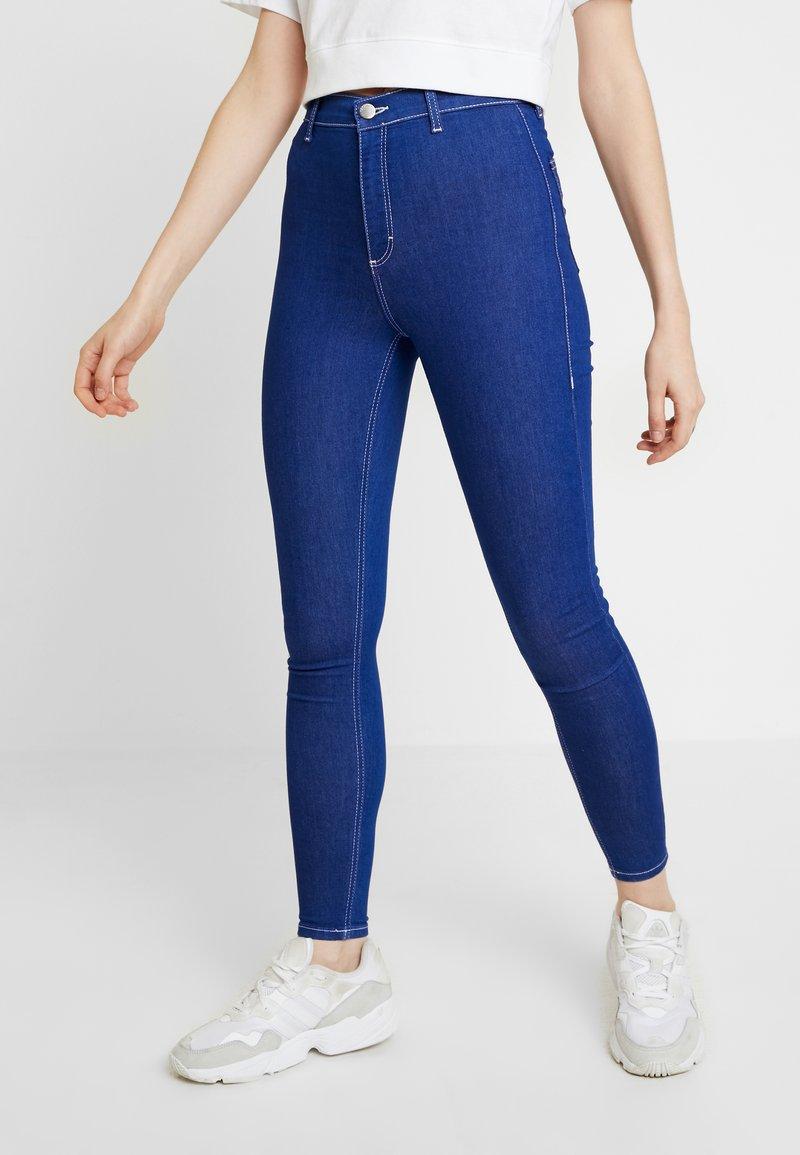 Topshop - BRIGHTB BELT JONI - Jeans Skinny Fit - blue