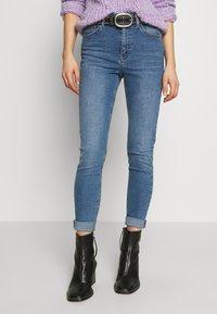 Topshop - JAMIE - Jeansy Skinny Fit - blue denim - 0