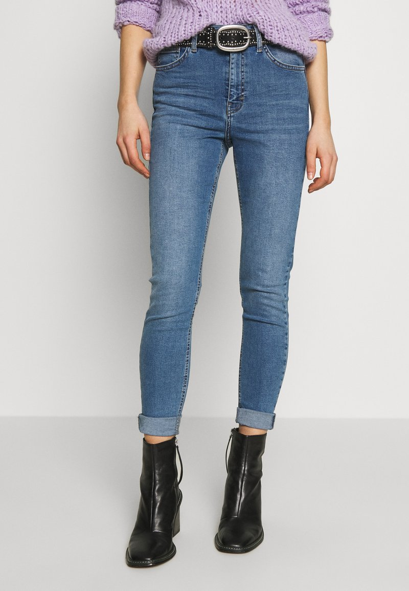 Topshop - JAMIE - Jeansy Skinny Fit - blue denim