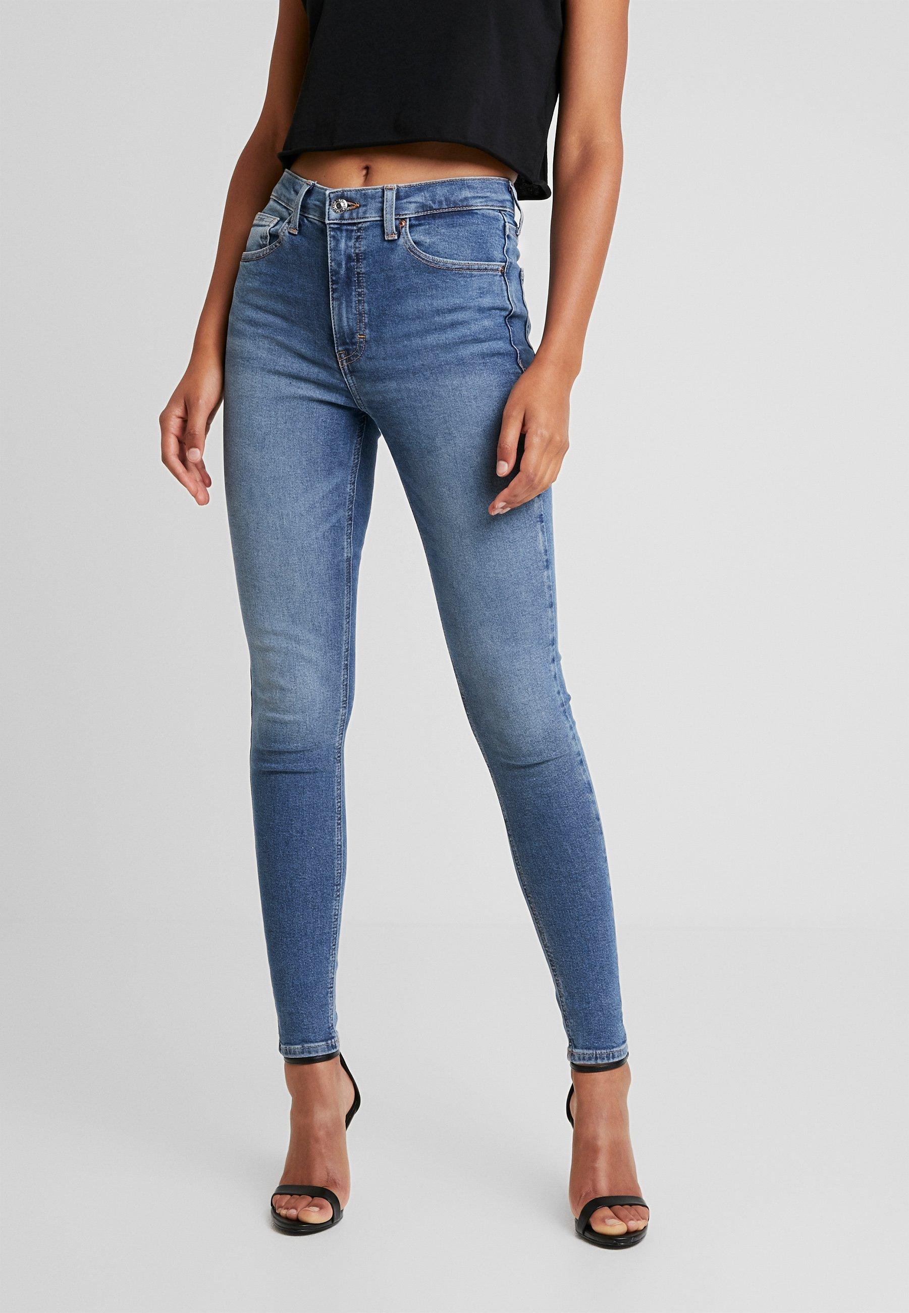 Topshop JAMIE - Jeans Skinny Fit blue denim