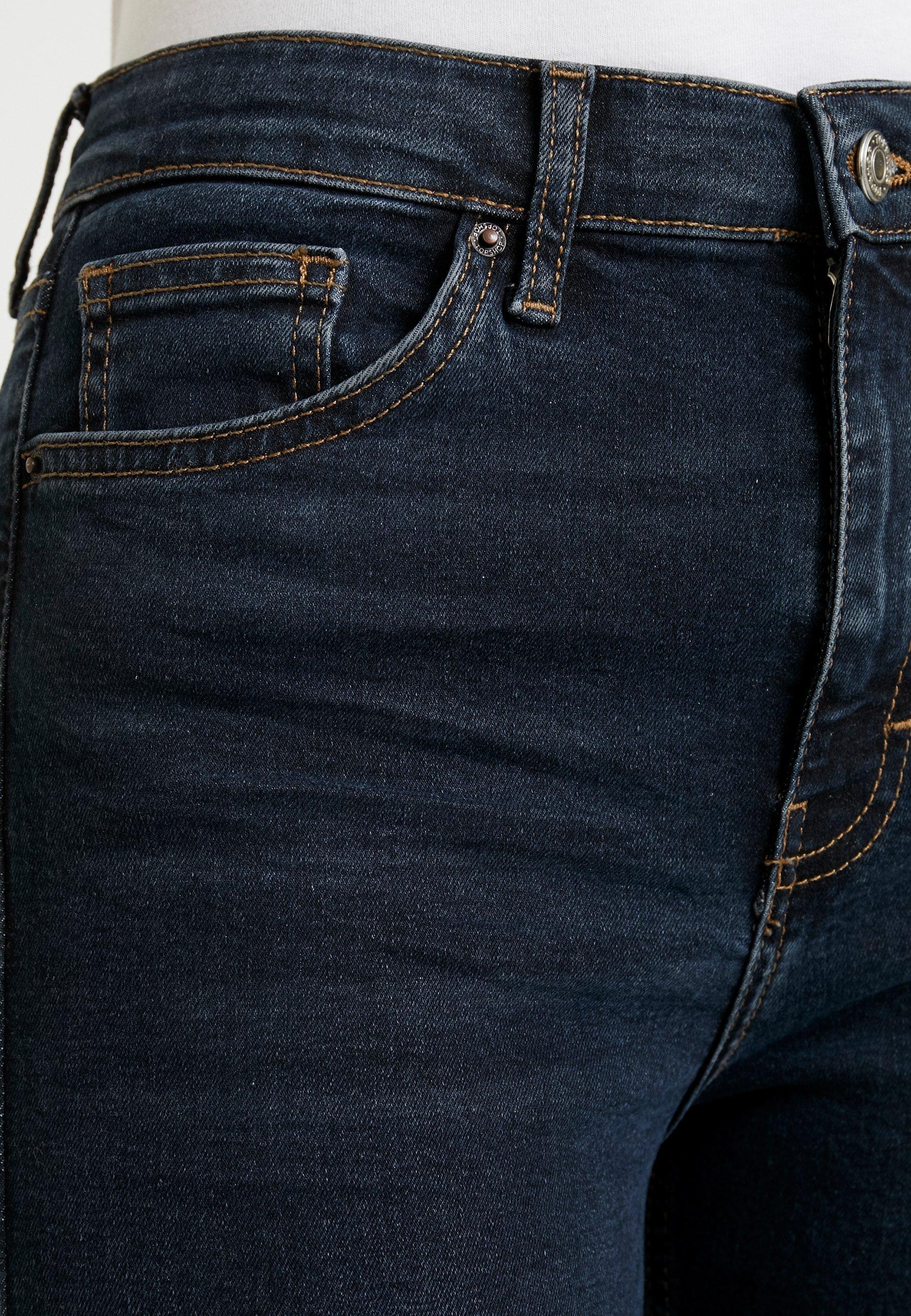 Topshop Jamie - Jeans Skinny Fit Blue Black