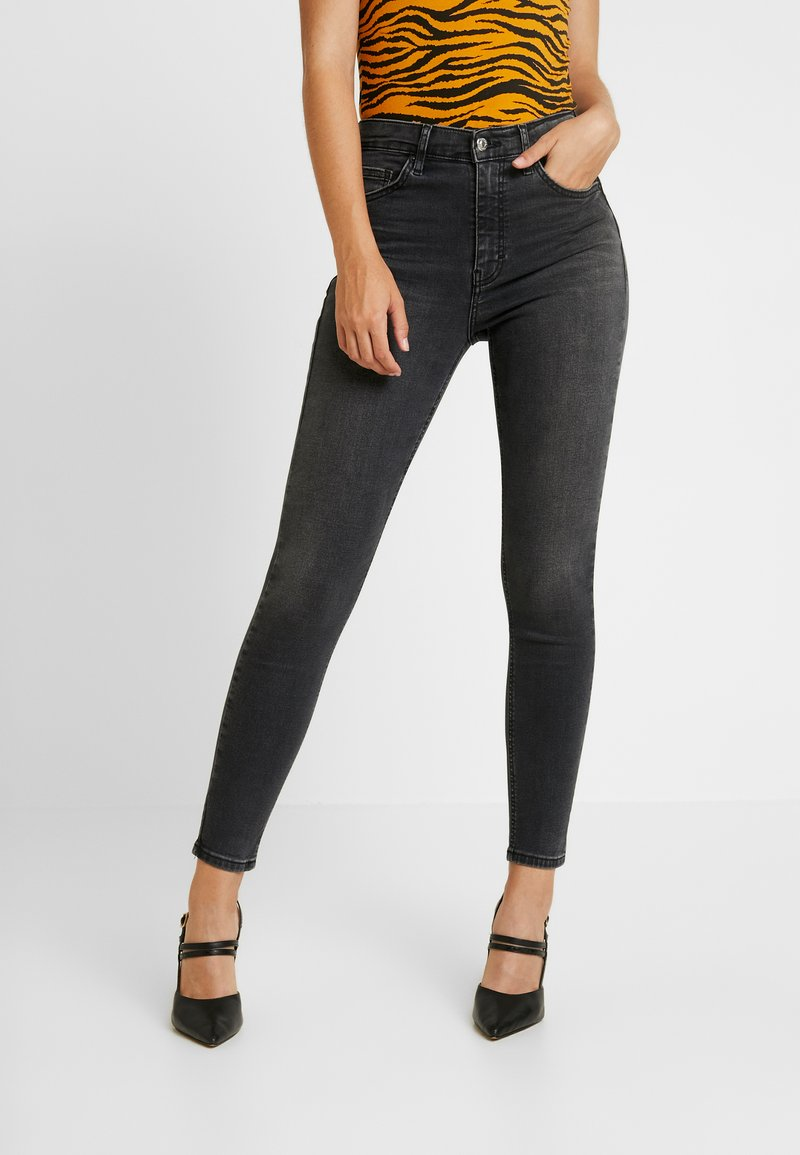 Topshop - JAMIE - Vaqueros pitillo - washed black