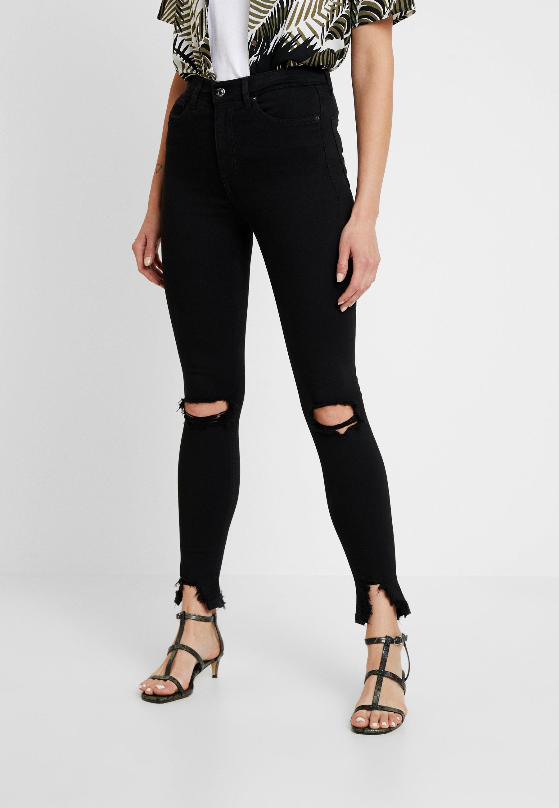 Topshop AUSTIN JAMIE - Jeansy Skinny Fit - black