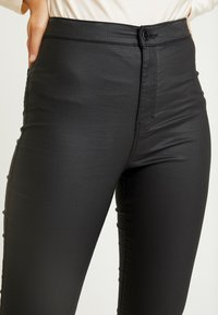 Topshop - COATED JONI - Trousers - black - 3