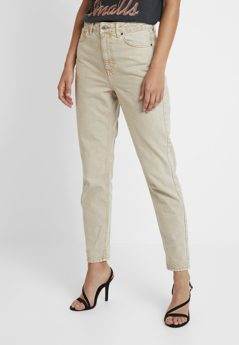 Topshop - MOM - Jeans baggy - sand