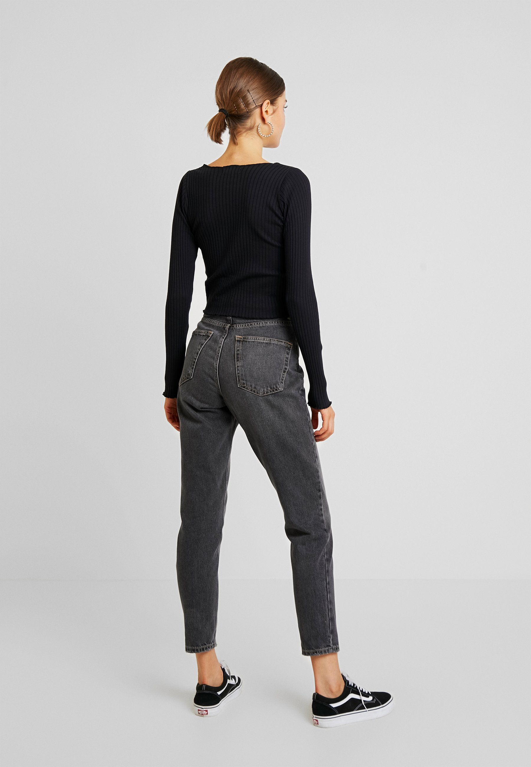 Topshop MOM - Jeansy Relaxed Fit - washed black