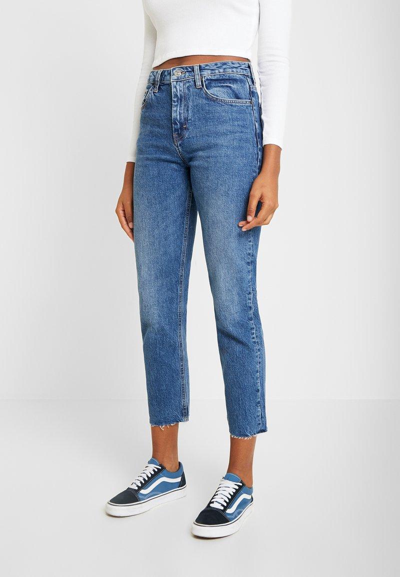Topshop - Straight leg jeans - blue denim