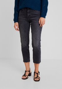 Topshop - Straight leg jeans - washed black - 0