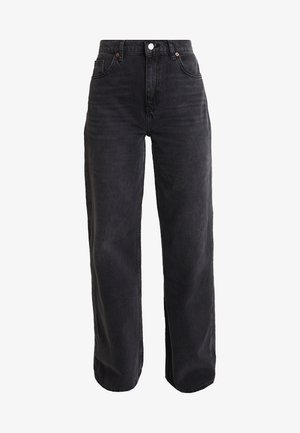 WIDE - Jeans straight leg - washed black