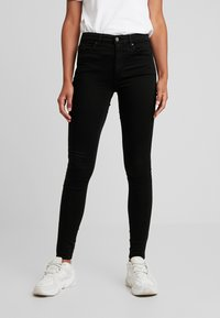 Topshop - LEIGH - Jeansy Skinny Fit - black - 0