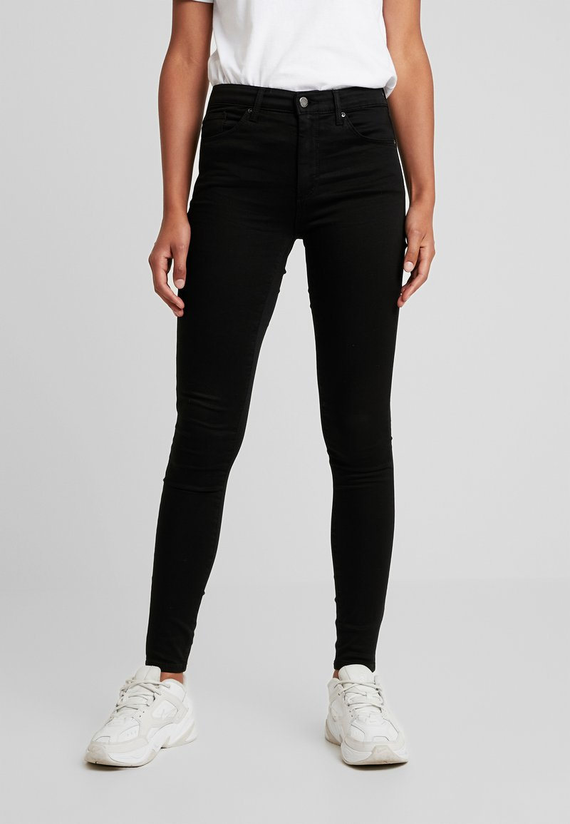 Topshop - LEIGH - Jeansy Skinny Fit - black