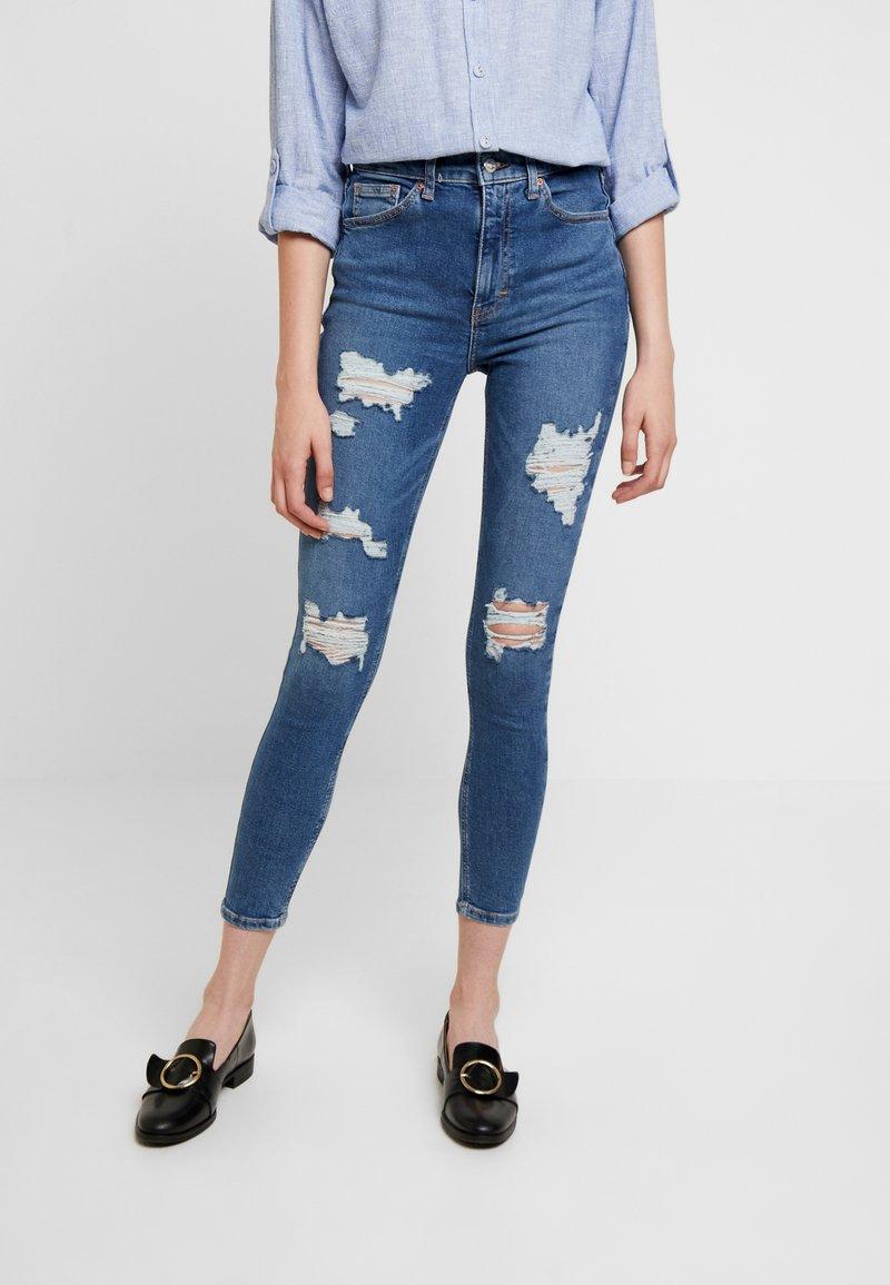 Topshop - SUPER JAMIE - Jeans Skinny Fit - blue denim