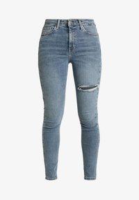Topshop - THIGH RIP JAMIE - Jeans Skinny Fit - bleached denim - 3