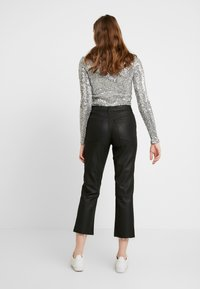 Topshop - COAT - Jeans straight leg - black - 2