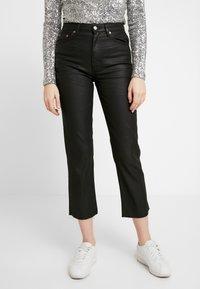 Topshop - COAT - Jeans straight leg - black - 0