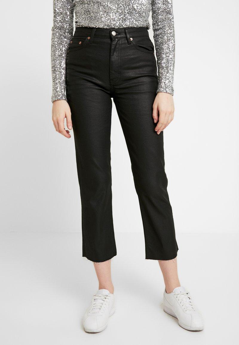 Topshop - COAT - Jeans straight leg - black