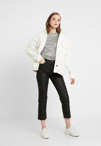 Topshop - COAT - Jeans straight leg - black - 1