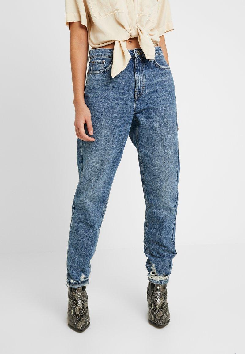 Topshop - HEM MOM - Relaxed fit jeans - blue denim