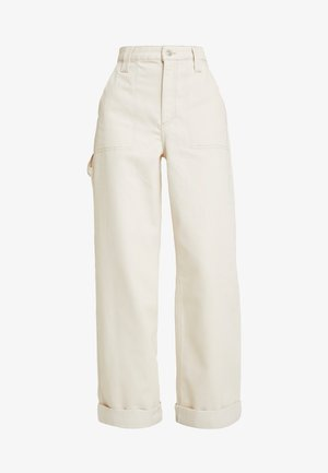 UTIL TURNH WIDE - Jeansy Relaxed Fit - ecru