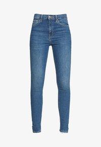 Topshop - ABRAIDED HEM JAMIE - Jeans Skinny Fit - mid blue - 3