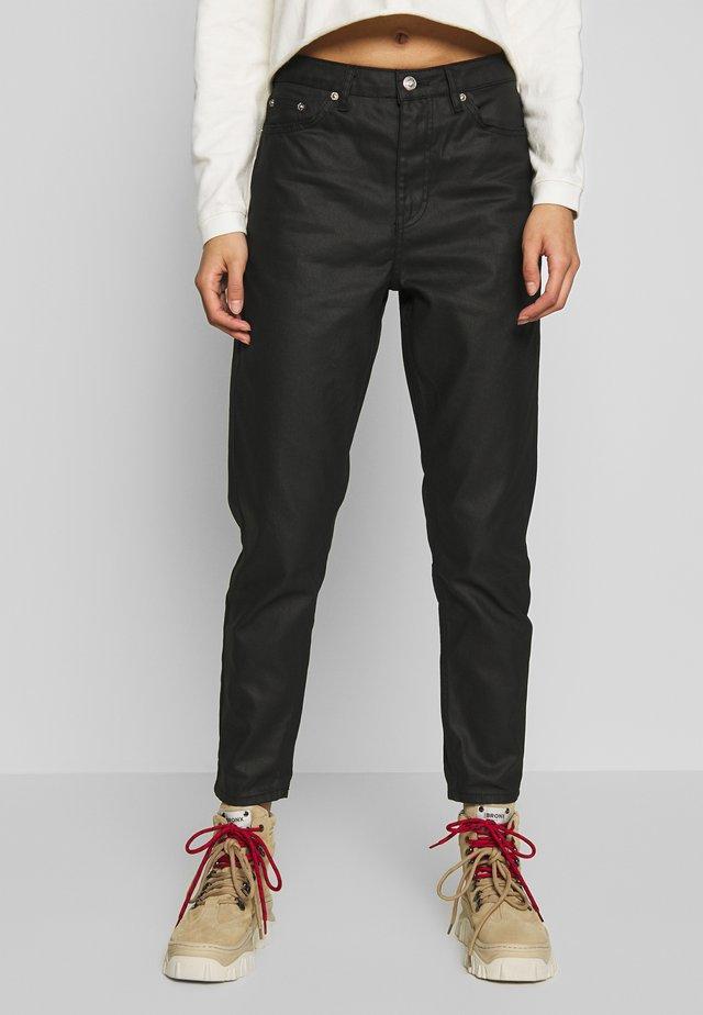 COAT MOM - Jeans baggy - black