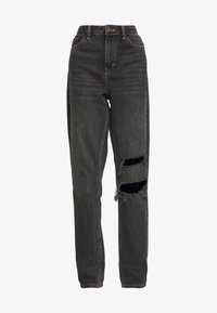 Topshop - SEOUL RIP MOM - Relaxed fit jeans - black - 3