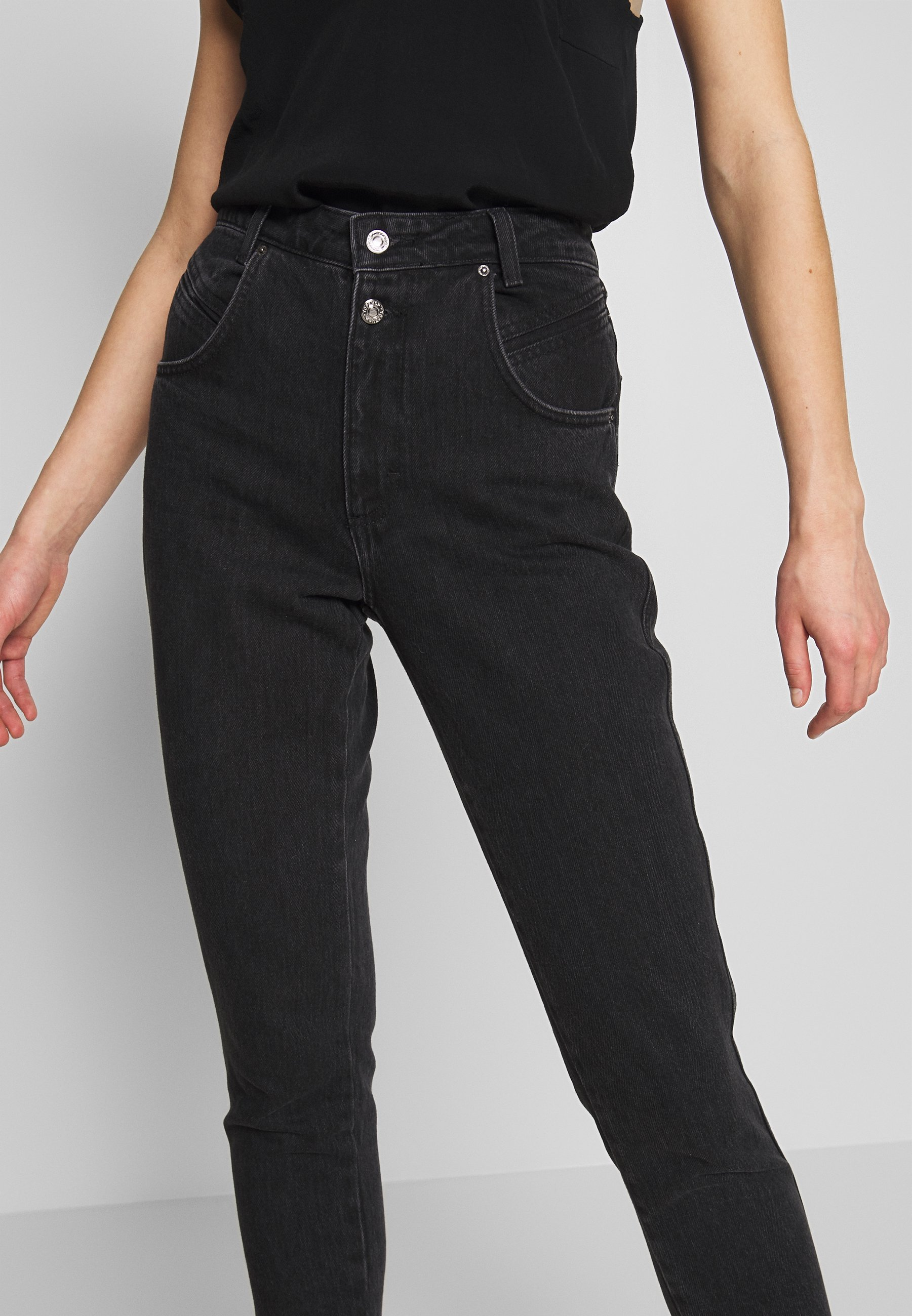 Topshop BUT MOM - Jeansy Relaxed Fit - washed black