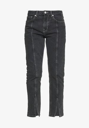 SPLIT HEM STRAIGHT - Jeans a sigaretta - washed black