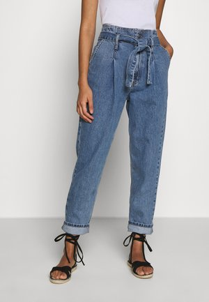PAPERBAG MOM - Jeansy Relaxed Fit - mid blue