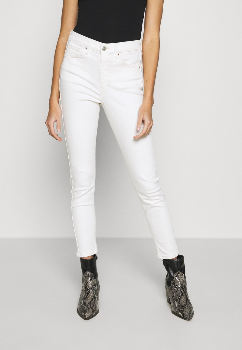 Topshop - JAMIE  - Jeansy Skinny Fit - offwhite