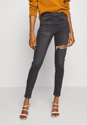 THIGH RIP JAMIE - Jeansy Skinny Fit - black