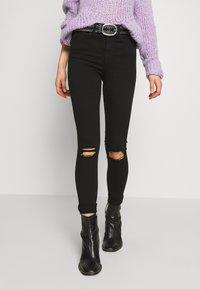 Topshop - ARIZONA RIP JAMIE - Jeans Skinny Fit - black - 0
