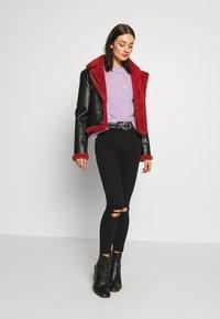 Topshop - ARIZONA RIP JAMIE - Jeans Skinny Fit - black - 1