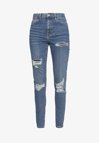 Topshop - SUPER RIP JAMIE - Jeansy Skinny Fit - blue denim - 4