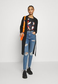 Topshop - SUPER RIP JAMIE - Jeansy Skinny Fit - blue denim - 1