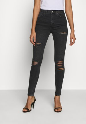 SUPER RIP JAMIE - Jeans Skinny Fit - washed black