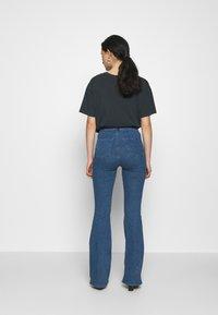 Topshop - ZED JONI - Flared Jeans - blue denim - 2