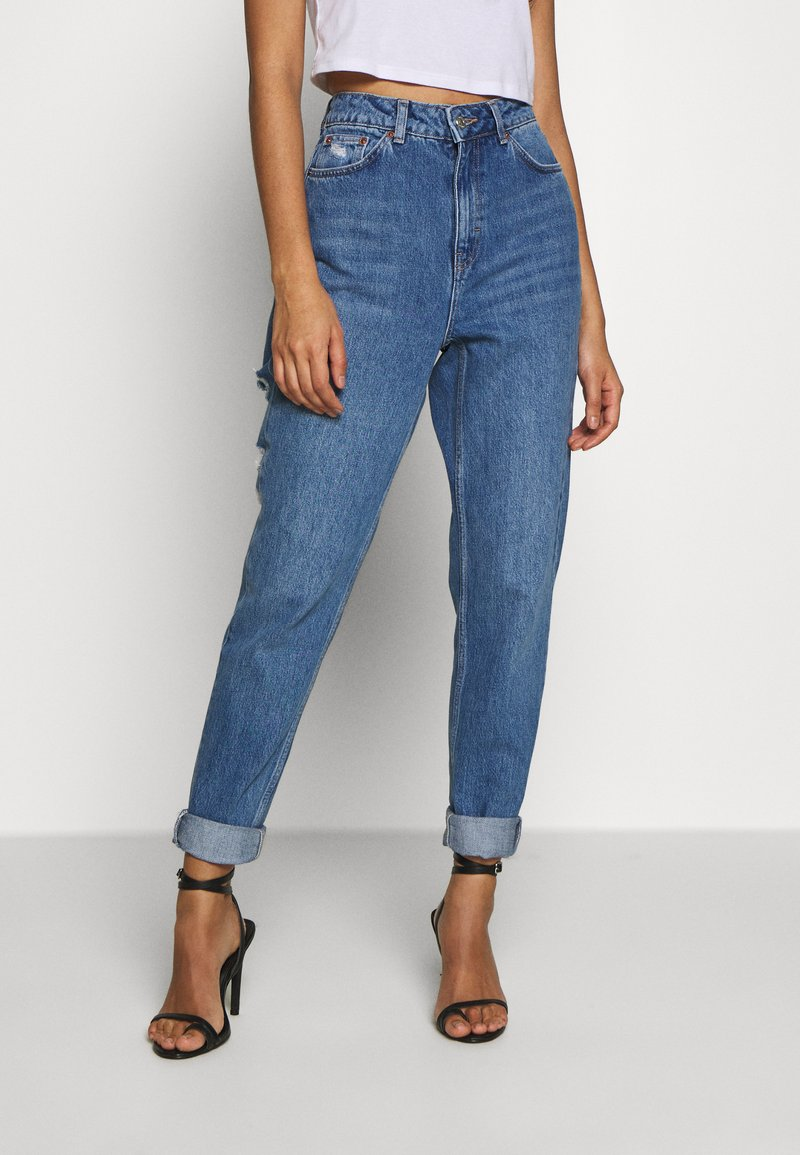 Topshop - MIAMI VICE MOM - Jeansy Relaxed Fit - blue denim