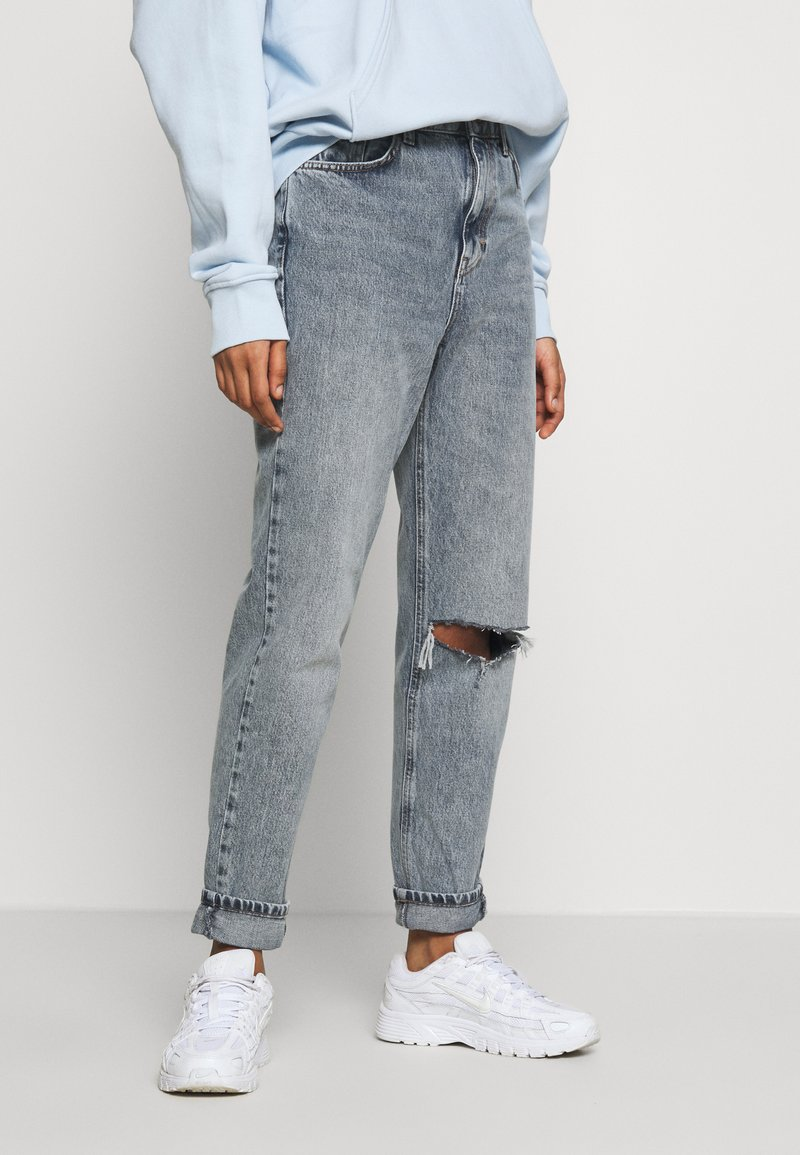 Topshop - CHICAGO RIP MOM  - Jeans baggy - smoke