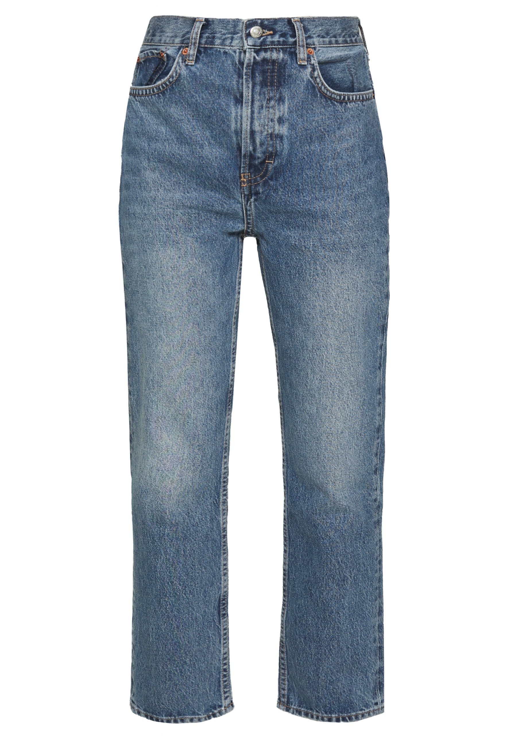 Topshop DAD - Jeansy Relaxed Fit - blue denim