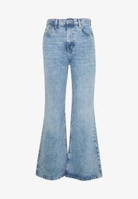 Topshop - SLIM WIDE - Flared Jeans - bleached denim - 3