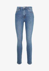Topshop - ABRAIDED JAMIE - Jeans Skinny Fit - blue denim - 3