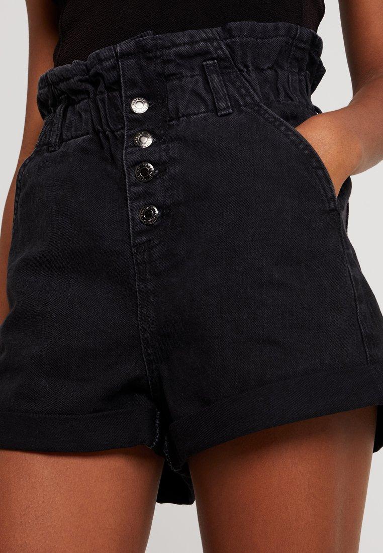 Jeans Topshop PaperbagShorts Black Di Washed luFTJ15Kc3