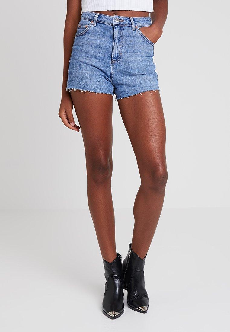 Topshop - NEW PREM MOM - Jeans Shorts - blue denim