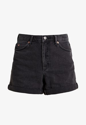 ROLL HEM MOM - Shorts di jeans - black denim