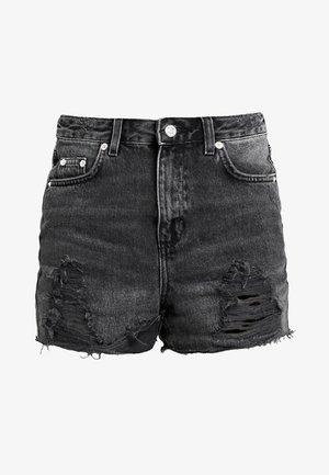 RIP MOM - Szorty jeansowe - black denim
