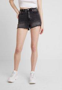 Topshop - MOM - Jeansshorts - black - 0