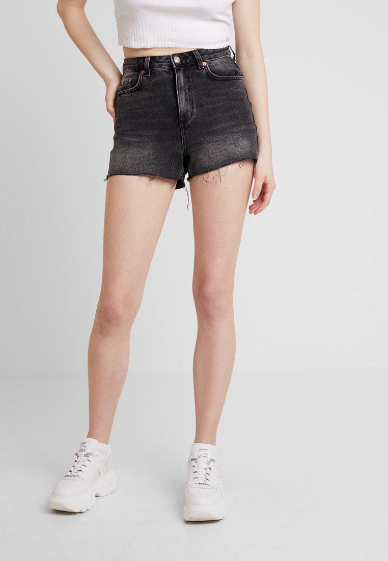 Topshop - MOM - Denim shorts - black