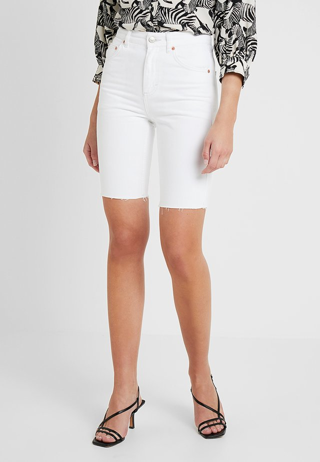 RIGID CYCLE - Jeansshort - white